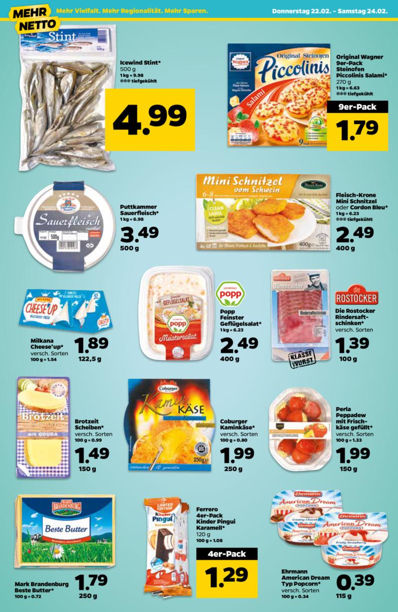 NETTO Supermarkt Prospekt vom 22.02.2018, Seite 1