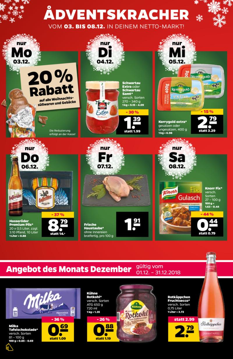 NETTO Supermarkt Prospekt vom 03.12.2018, Seite 1