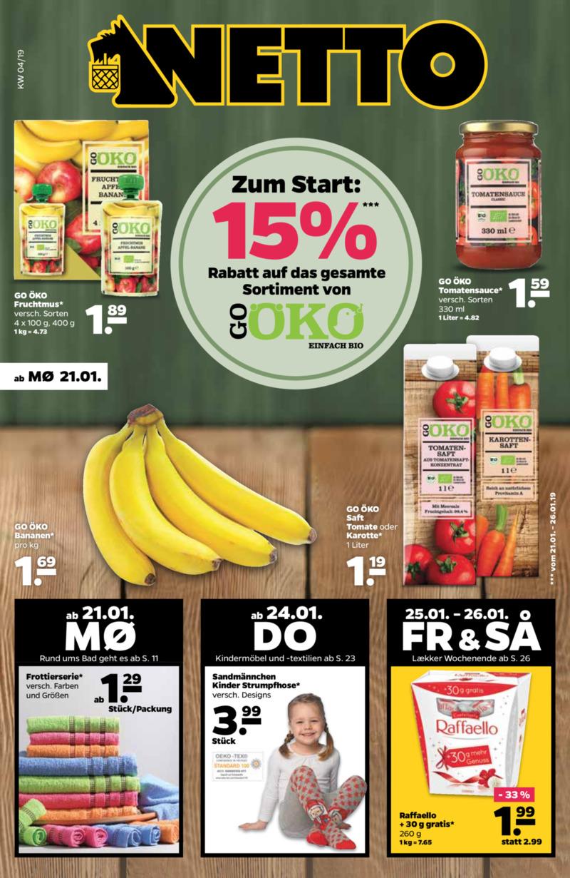 NETTO Supermarkt Prospekt vom 21.01.2019, Seite