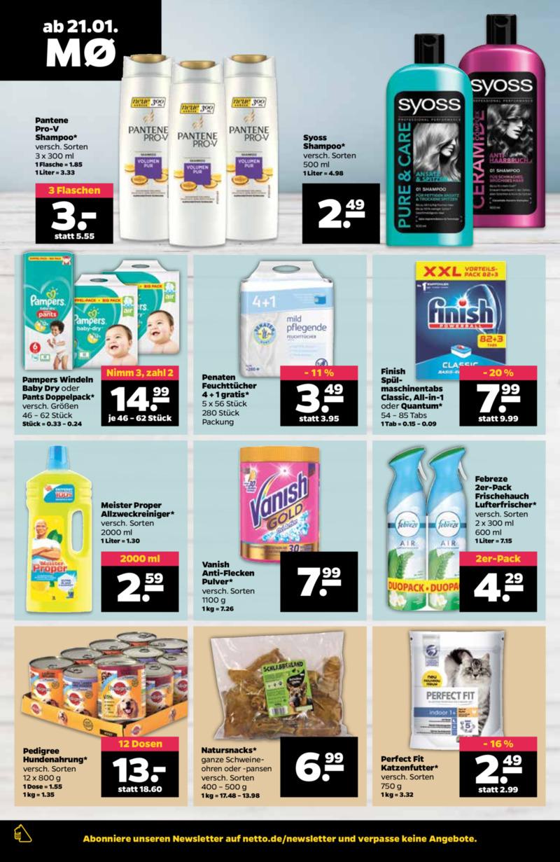 NETTO Supermarkt Prospekt vom 21.01.2019, Seite 9