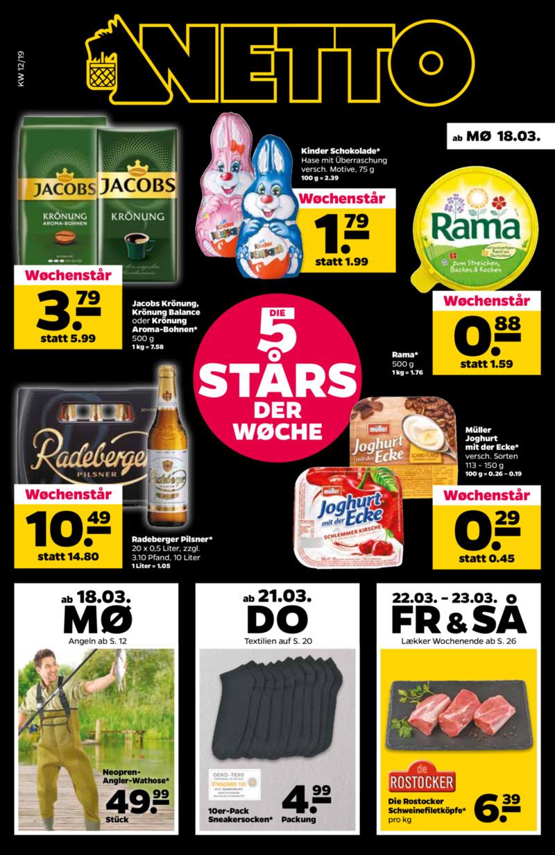 NETTO Supermarkt Prospekt vom 18.03.2019, Seite
