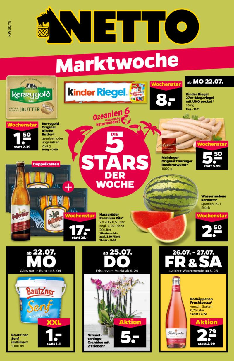 NETTO Supermarkt Prospekt vom 22.07.2019, Seite