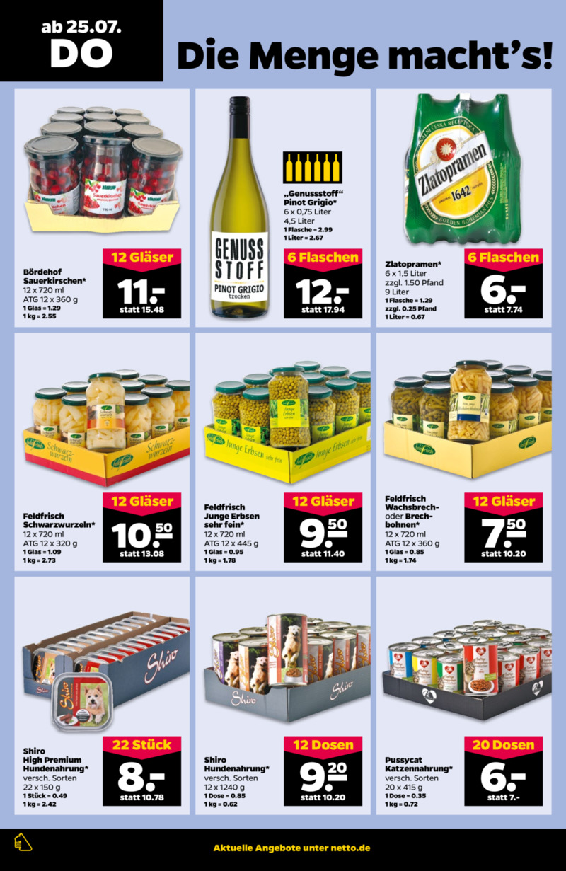 NETTO Supermarkt Prospekt vom 22.07.2019, Seite 21