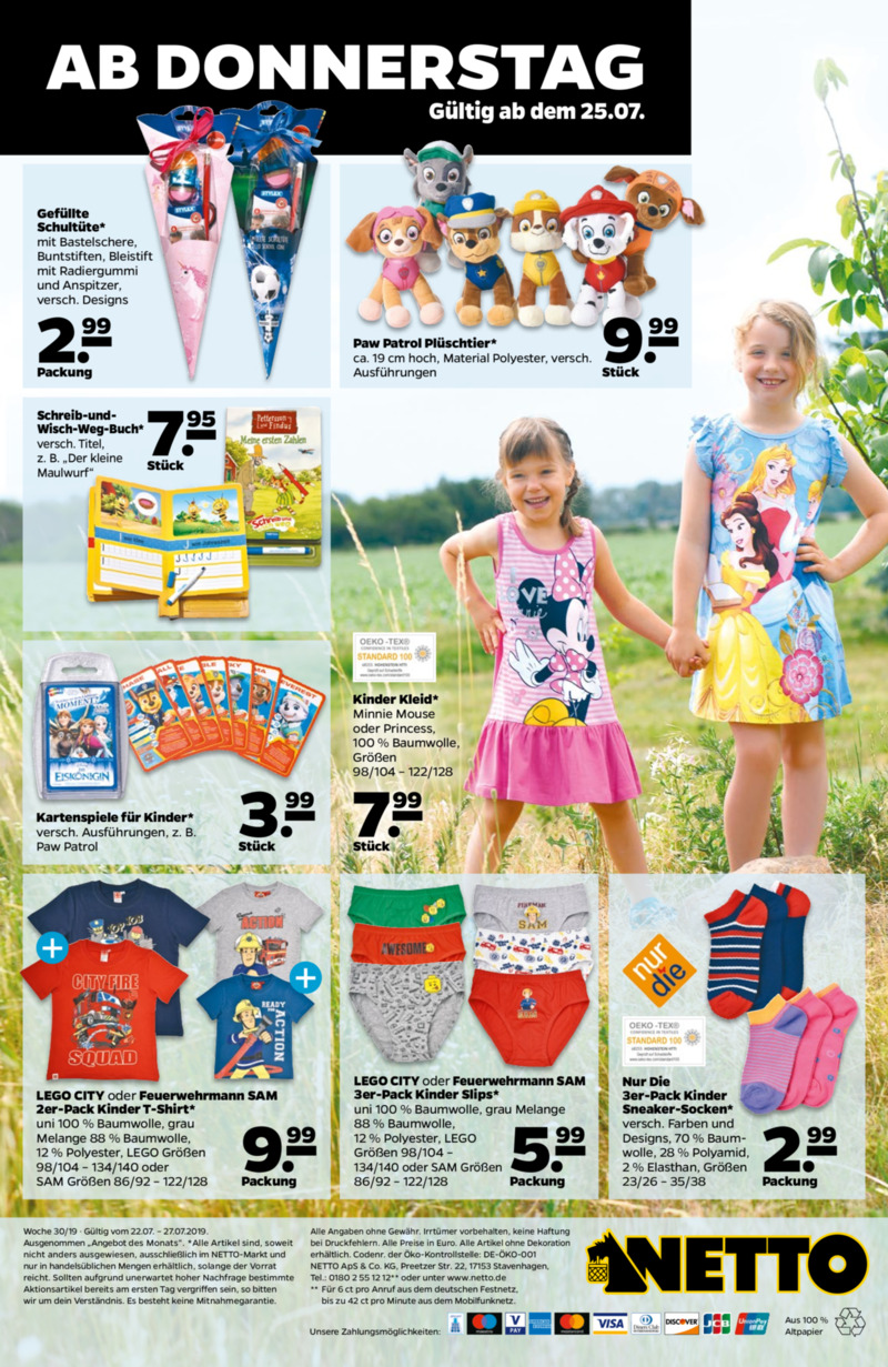 NETTO Supermarkt Prospekt vom 22.07.2019, Seite 31