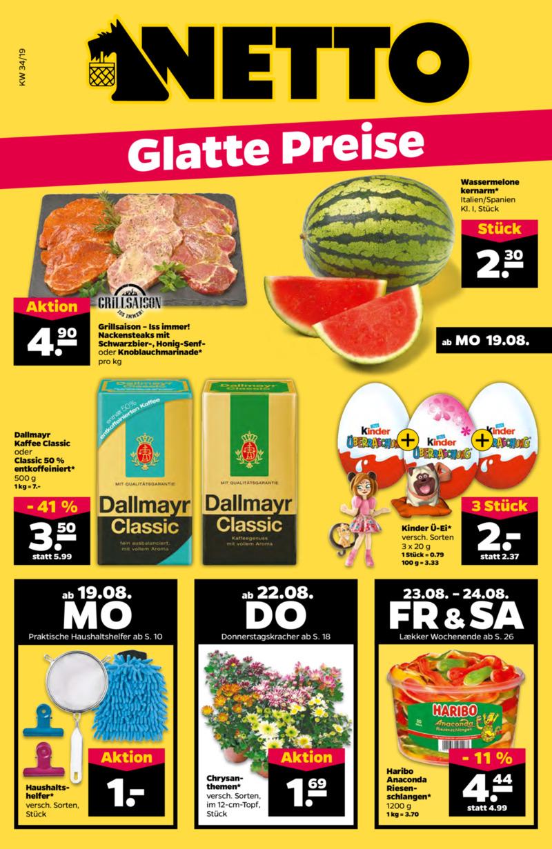NETTO Supermarkt Prospekt vom 19.08.2019, Seite