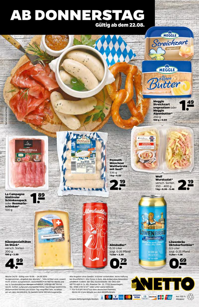 NETTO Supermarkt Prospekt vom 19.08.2019, Seite 29