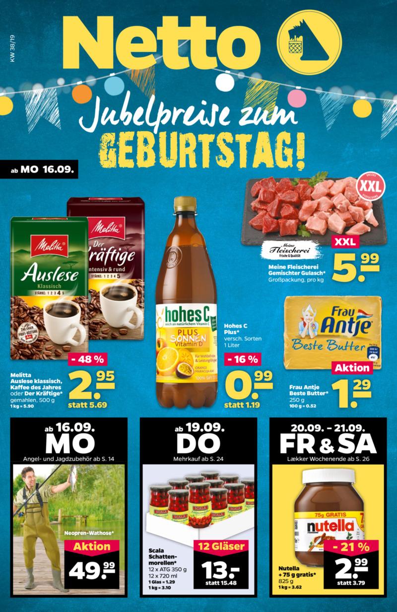 NETTO Supermarkt Prospekt vom 16.09.2019, Seite