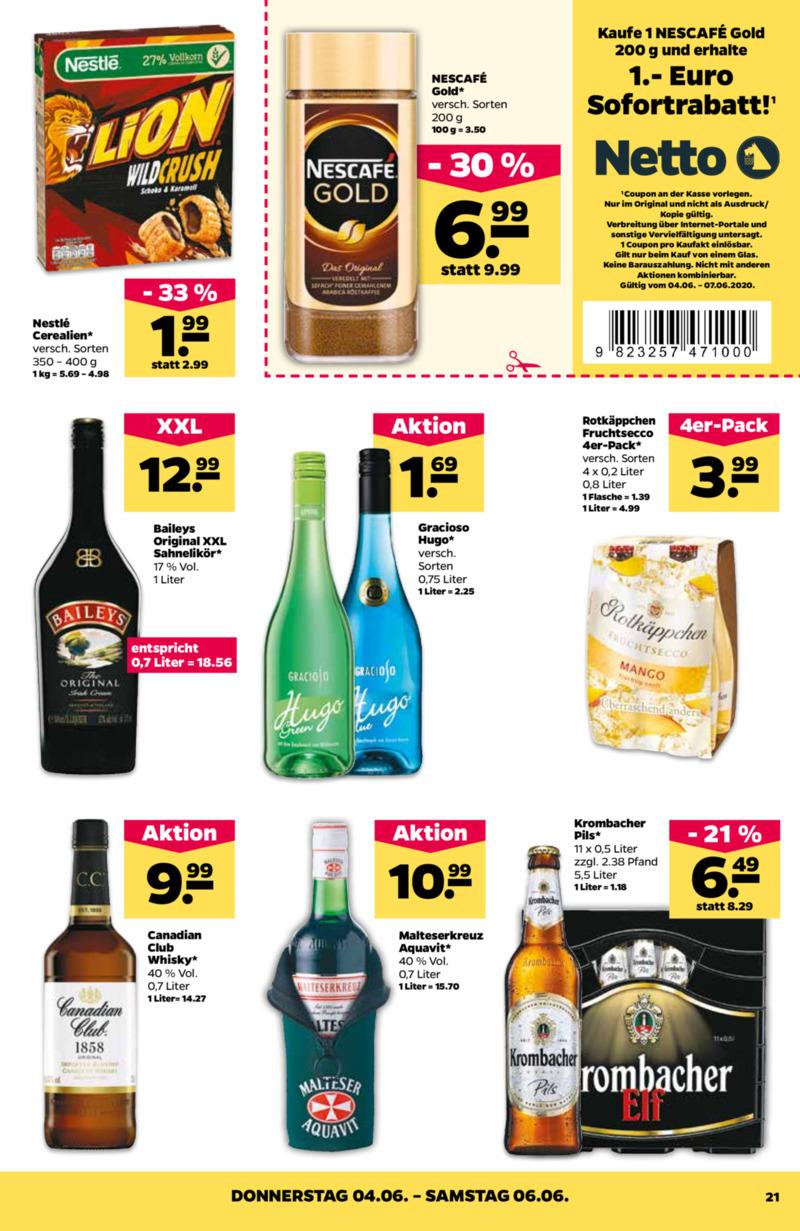NETTO Supermarkt Prospekt vom 02.06.2020, Seite 20