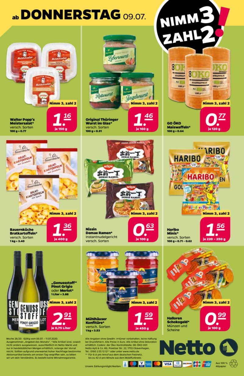 NETTO Supermarkt Prospekt vom 06.07.2020, Seite 31