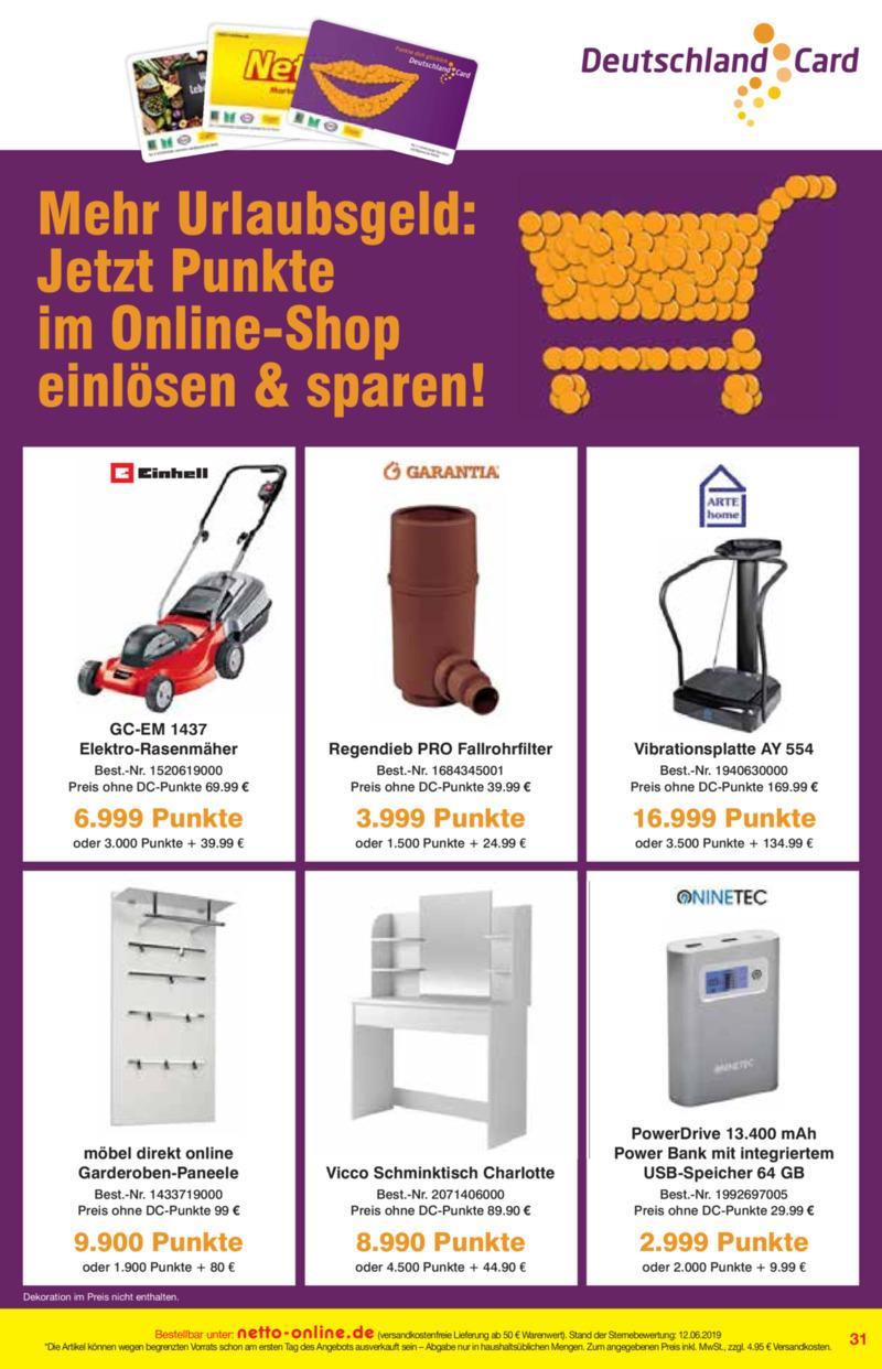 Netto Marken-Discount Prospekt vom 01.07.2019, Seite 30