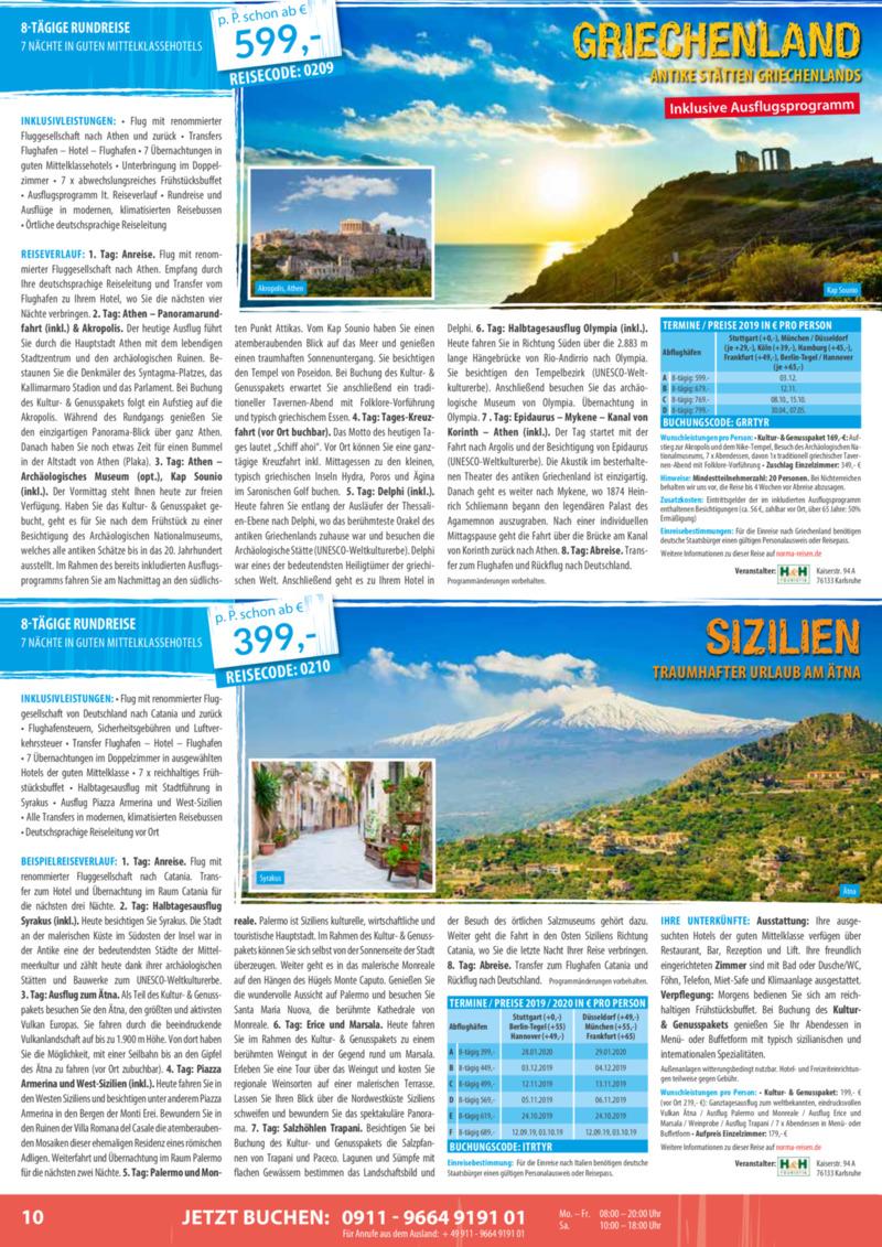 Norma-Reisen Prospekt vom 01.02.2019, Seite 9