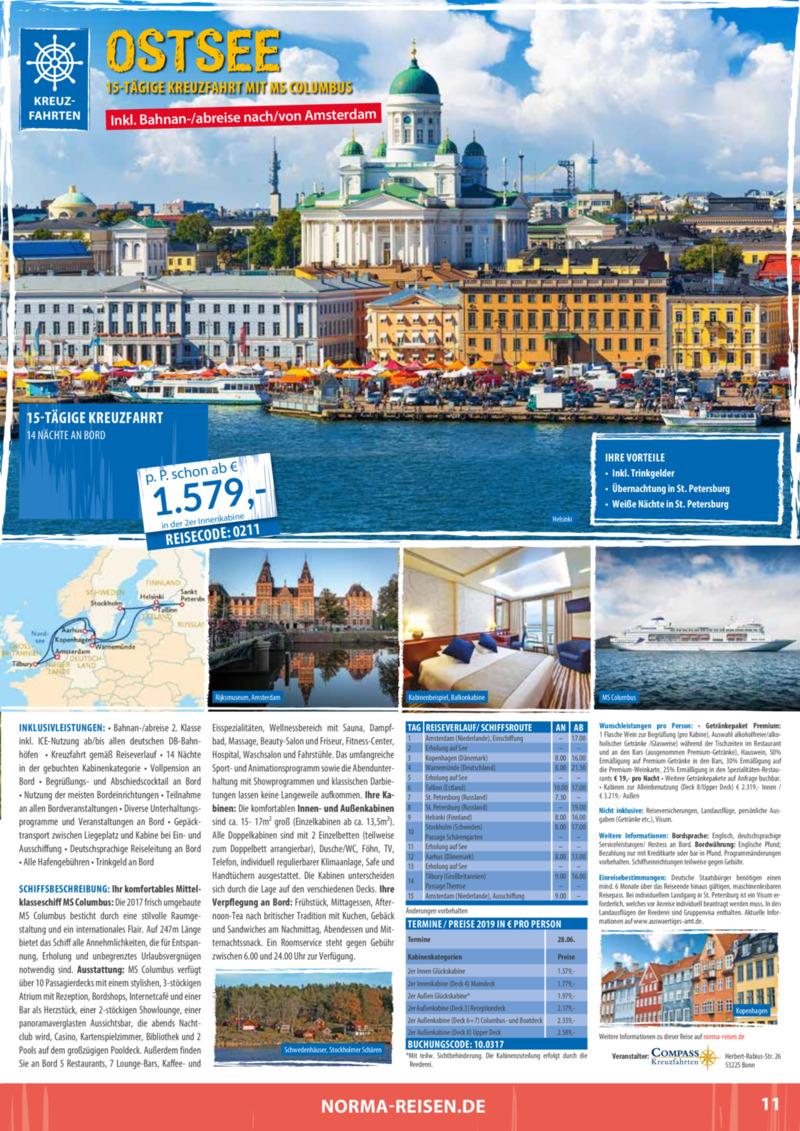 Norma-Reisen Prospekt vom 01.02.2019, Seite 10