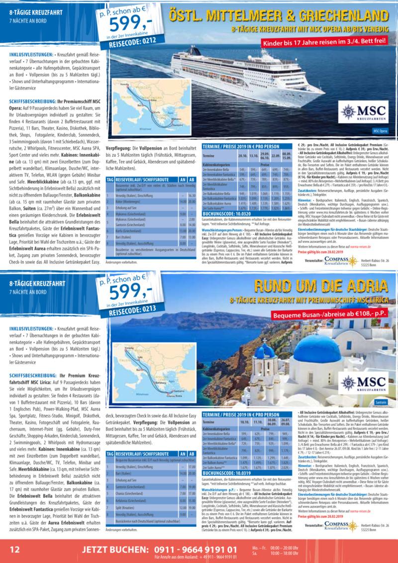 Norma-Reisen Prospekt vom 01.02.2019, Seite 11