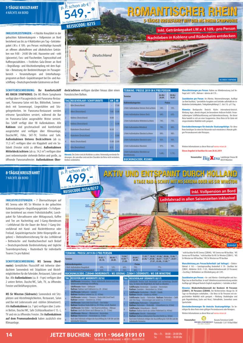 Norma-Reisen Prospekt vom 01.02.2019, Seite 13