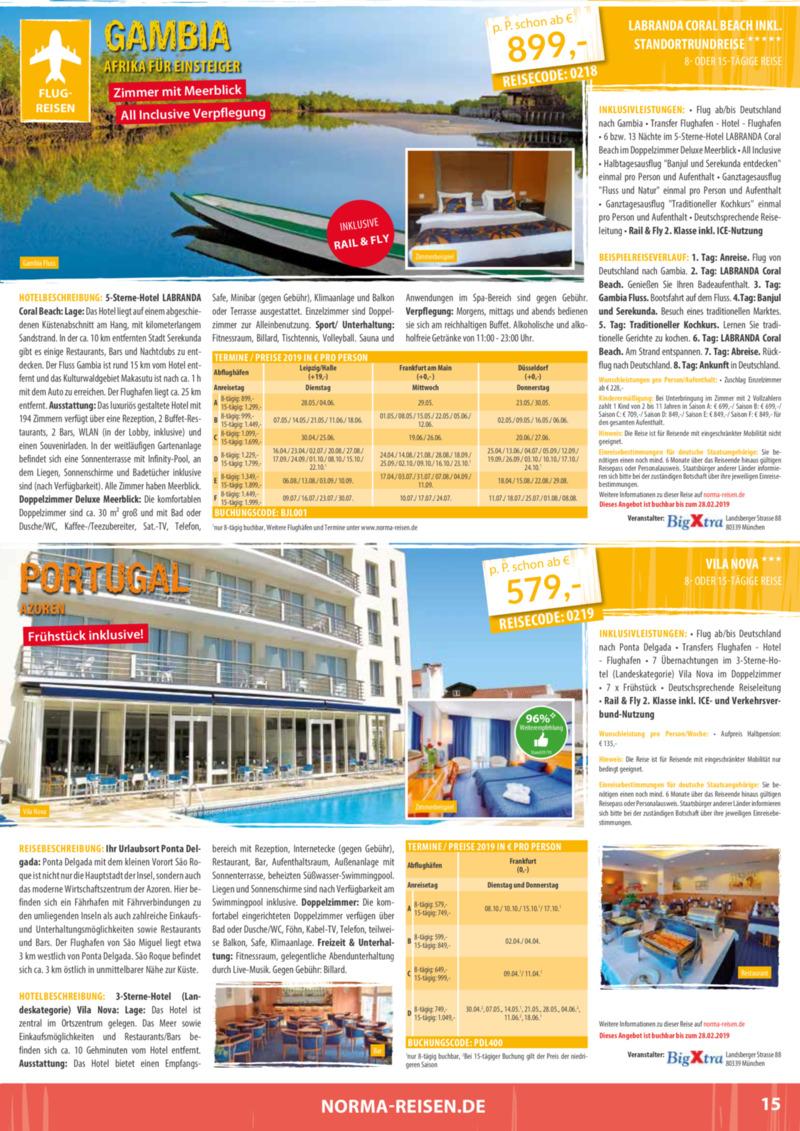 Norma-Reisen Prospekt vom 01.02.2019, Seite 14