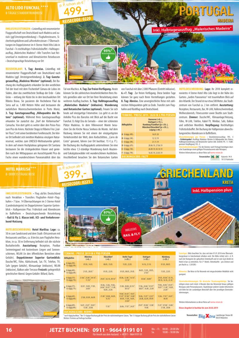 Norma-Reisen Prospekt vom 01.02.2019, Seite 15