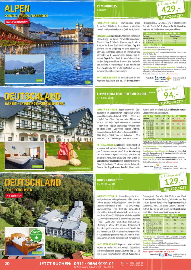Norma-Reisen Prospekt vom 01.02.2019, Seite 19