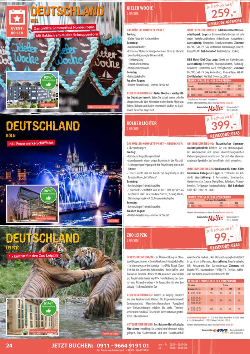 Norma-Reisen Prospekt vom 01.02.2019, Seite 23