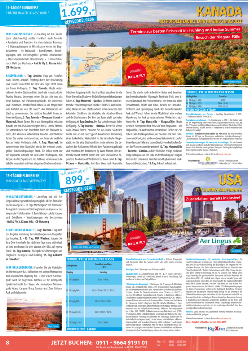Norma-Reisen Prospekt vom 01.02.2019, Seite 7