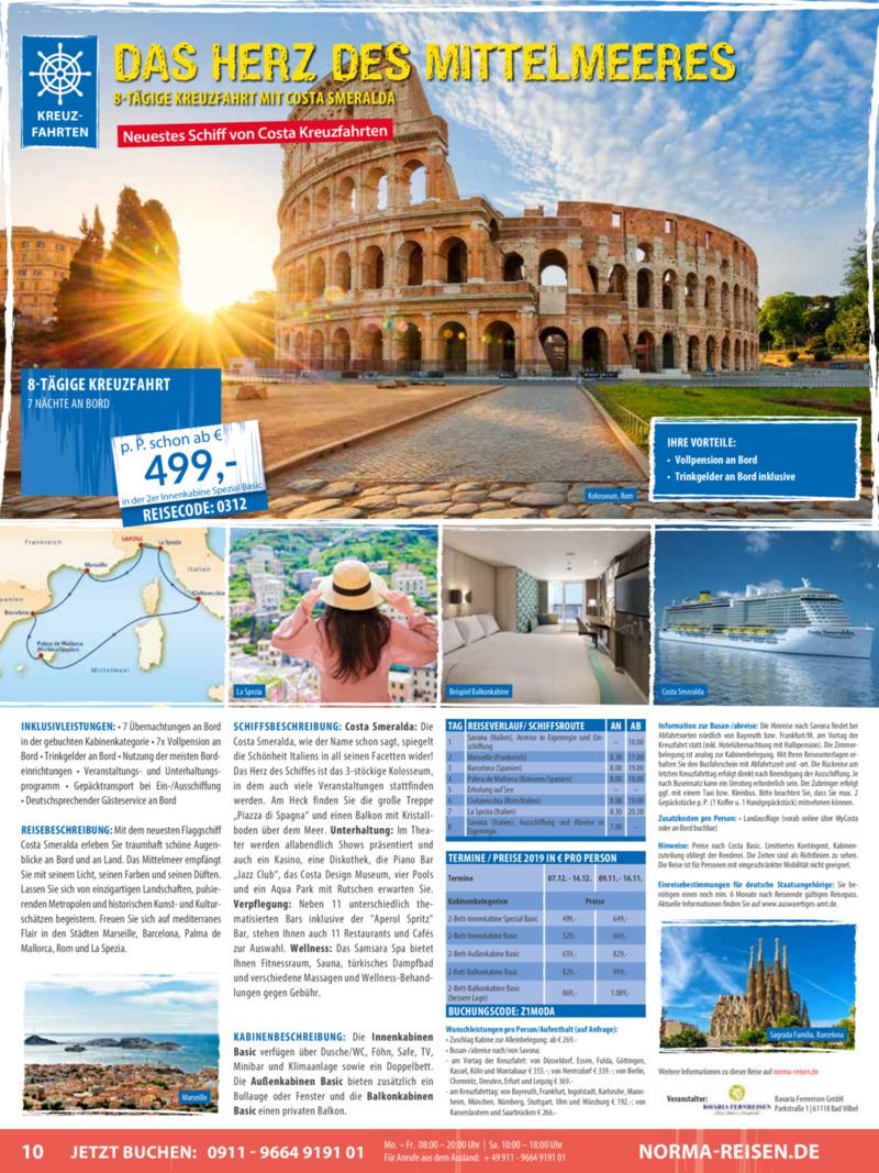 Norma-Reisen Prospekt vom 01.03.2019, Seite 9