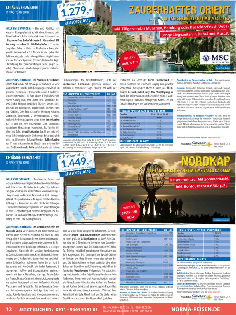 Norma-Reisen Prospekt vom 01.03.2019, Seite 11