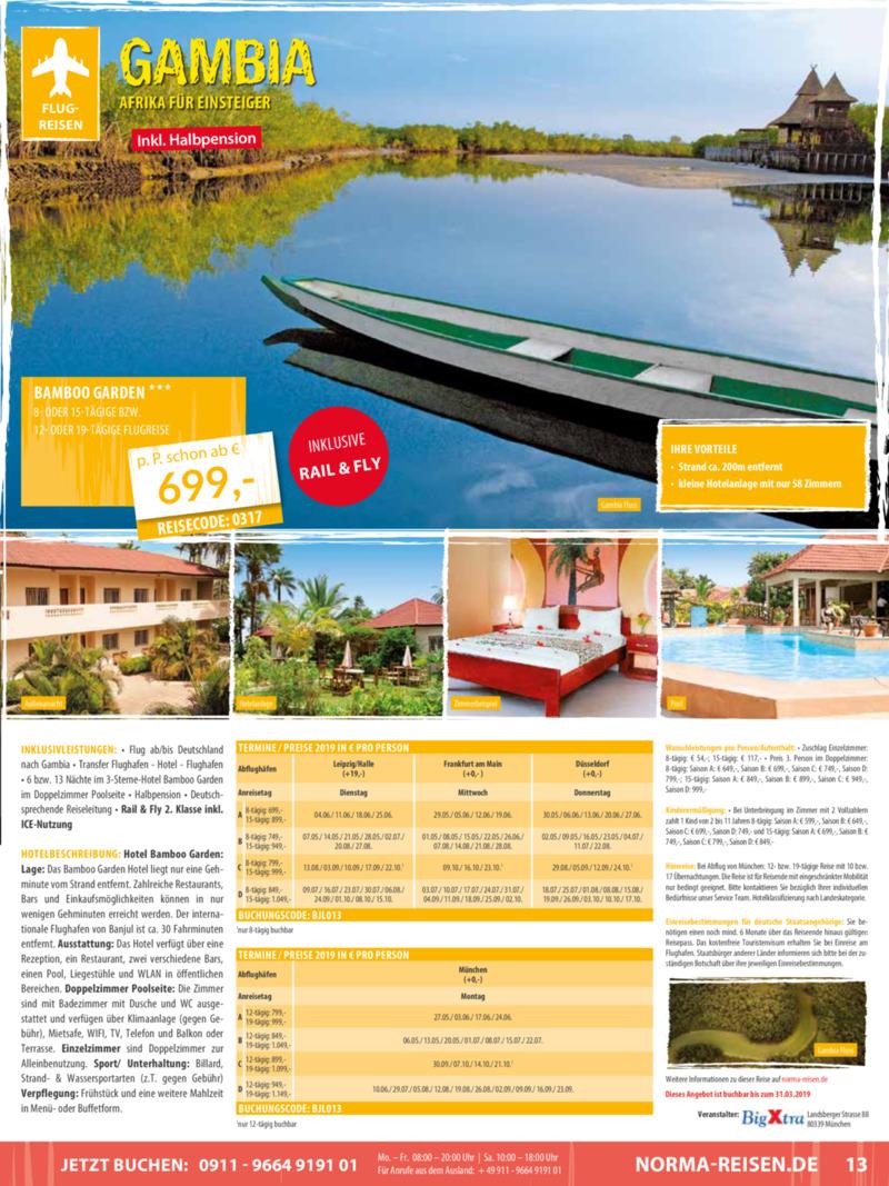 Norma-Reisen Prospekt vom 01.03.2019, Seite 12