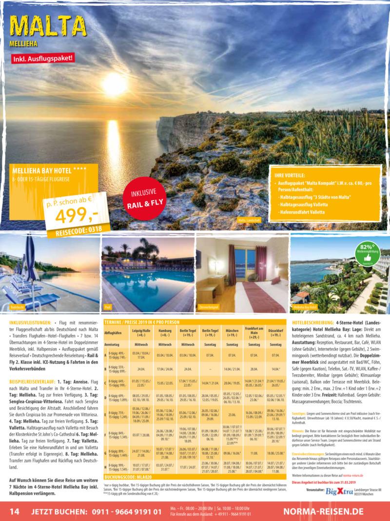 Norma-Reisen Prospekt vom 01.03.2019, Seite 13