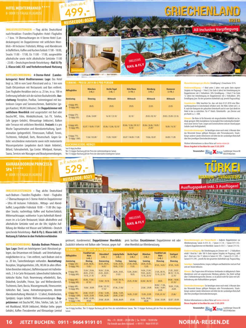 Norma-Reisen Prospekt vom 01.03.2019, Seite 15