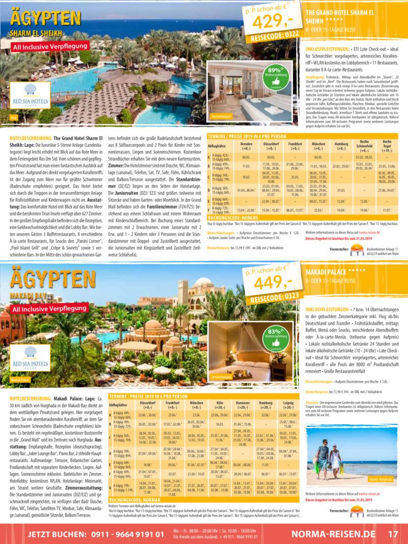 Norma-Reisen Prospekt vom 01.03.2019, Seite 16