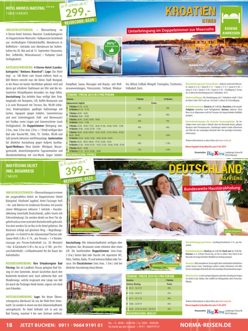 Norma-Reisen Prospekt vom 01.03.2019, Seite 17