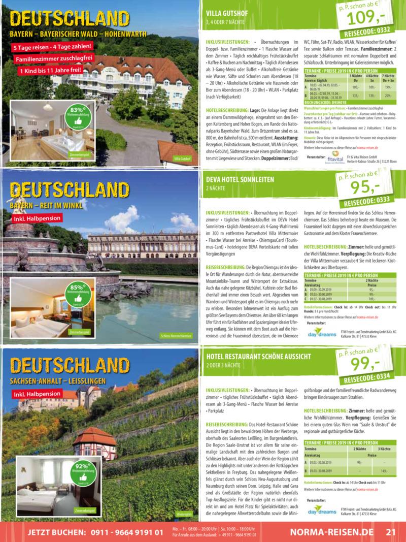 Norma-Reisen Prospekt vom 01.03.2019, Seite 20