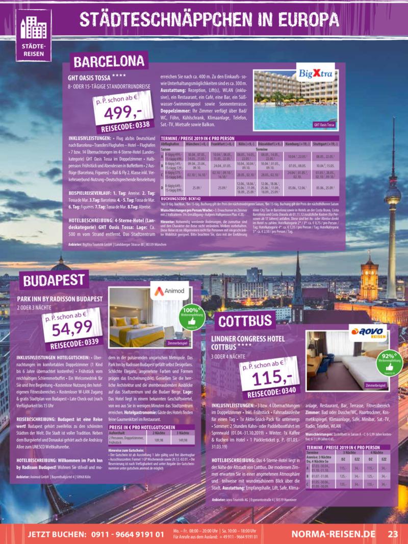 Norma-Reisen Prospekt vom 01.03.2019, Seite 22