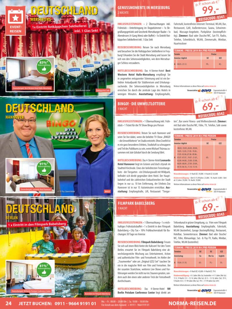 Norma-Reisen Prospekt vom 01.03.2019, Seite 23