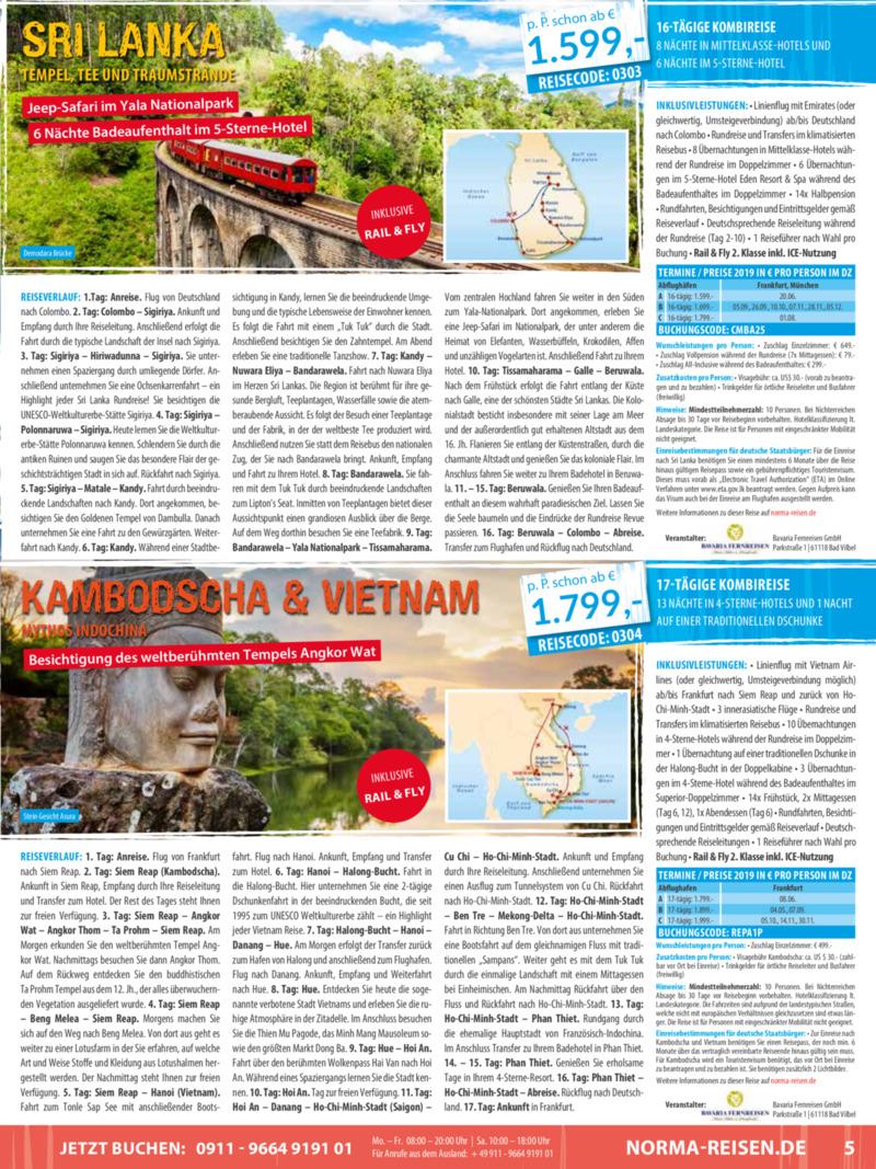 Norma-Reisen Prospekt vom 01.03.2019, Seite 4