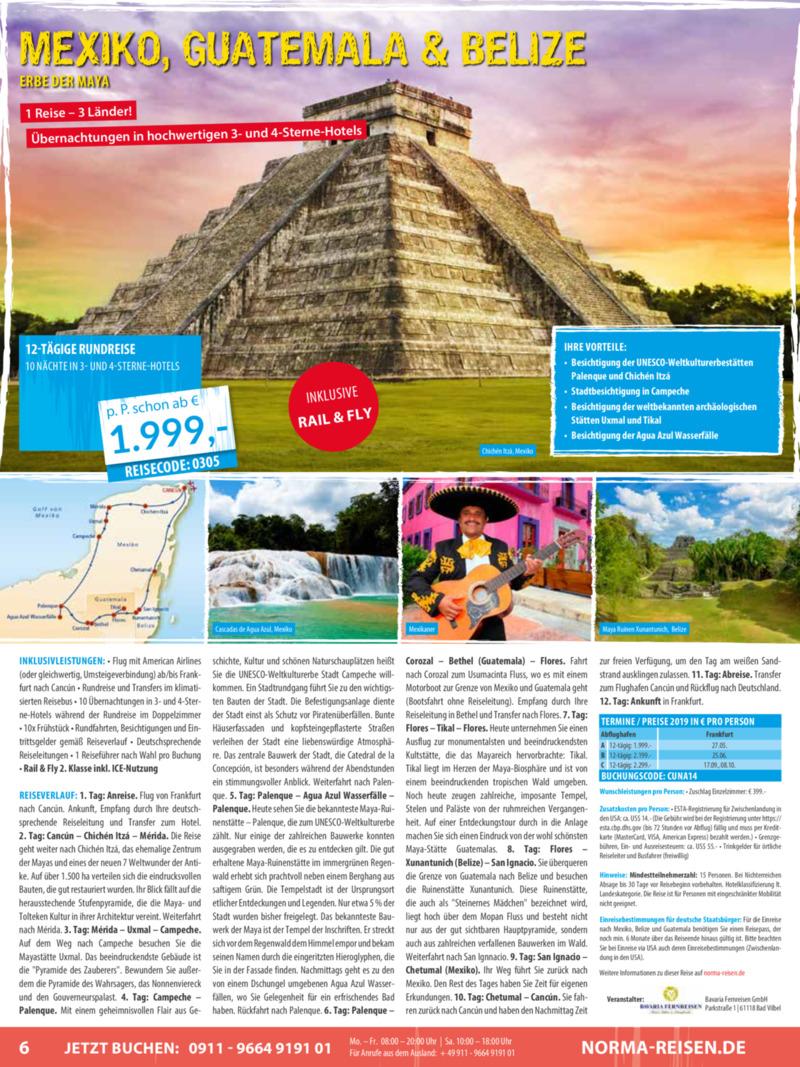 Norma-Reisen Prospekt vom 01.03.2019, Seite 5