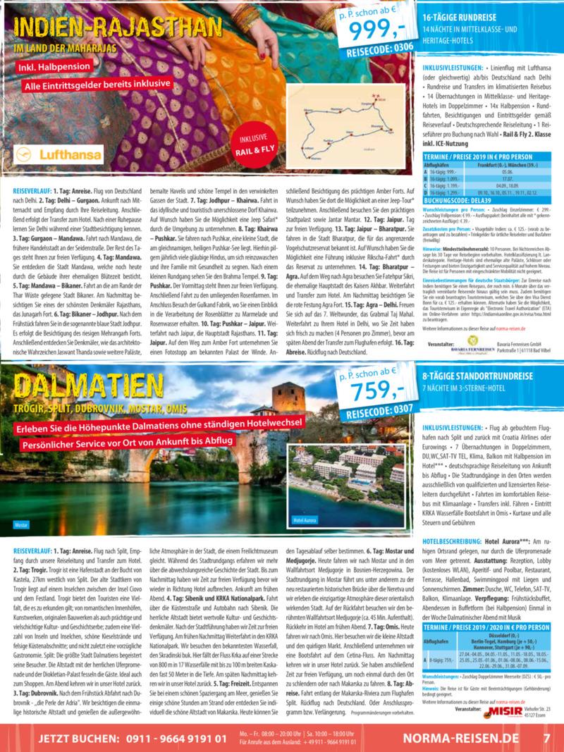Norma-Reisen Prospekt vom 01.03.2019, Seite 6