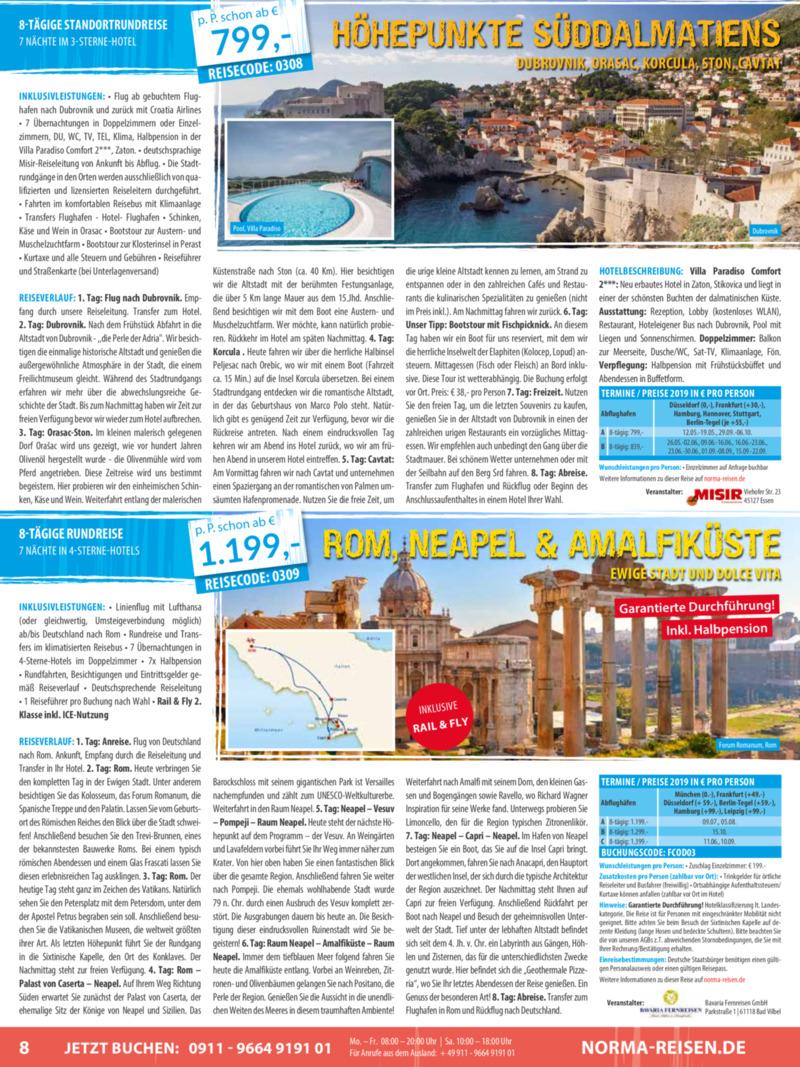 Norma-Reisen Prospekt vom 01.03.2019, Seite 7