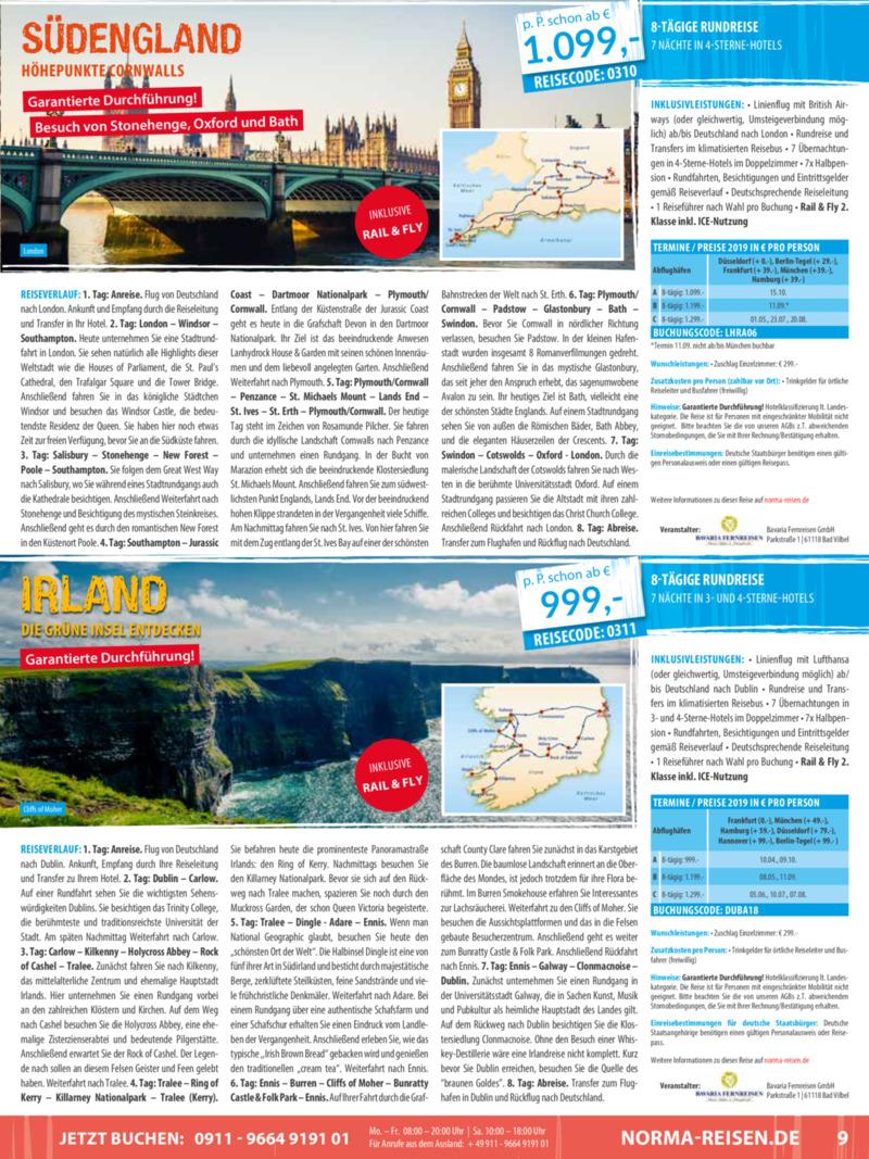 Norma-Reisen Prospekt vom 01.03.2019, Seite 8