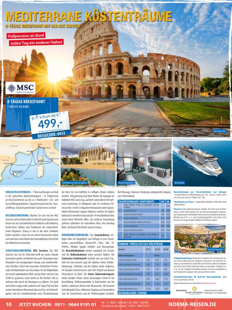 Norma-Reisen Prospekt vom 01.04.2019, Seite 9