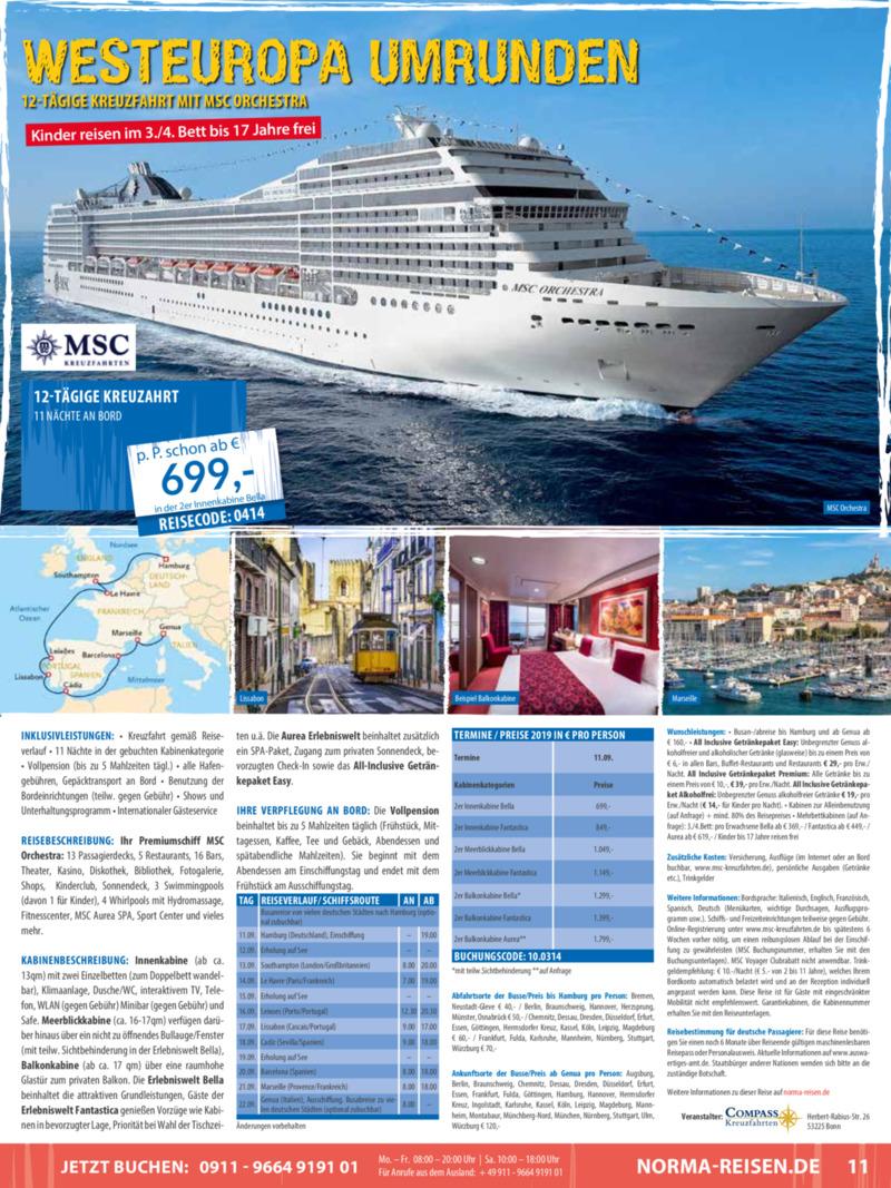 Norma-Reisen Prospekt vom 01.04.2019, Seite 10