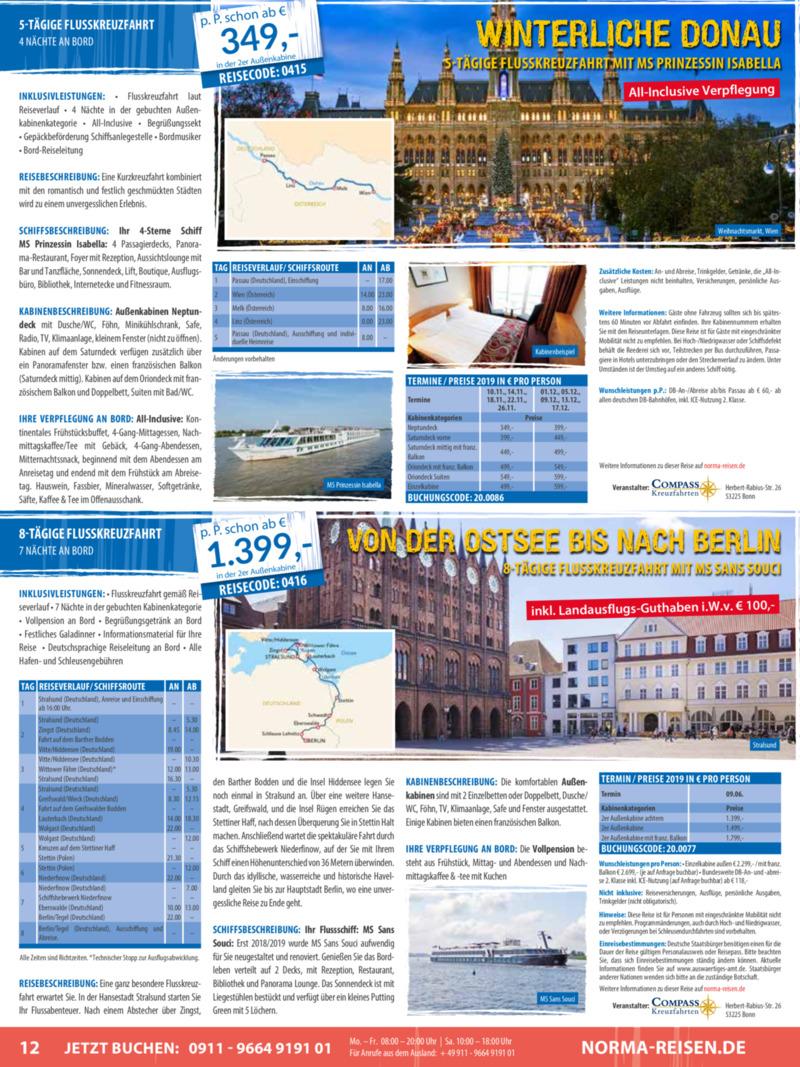 Norma-Reisen Prospekt vom 01.04.2019, Seite 11