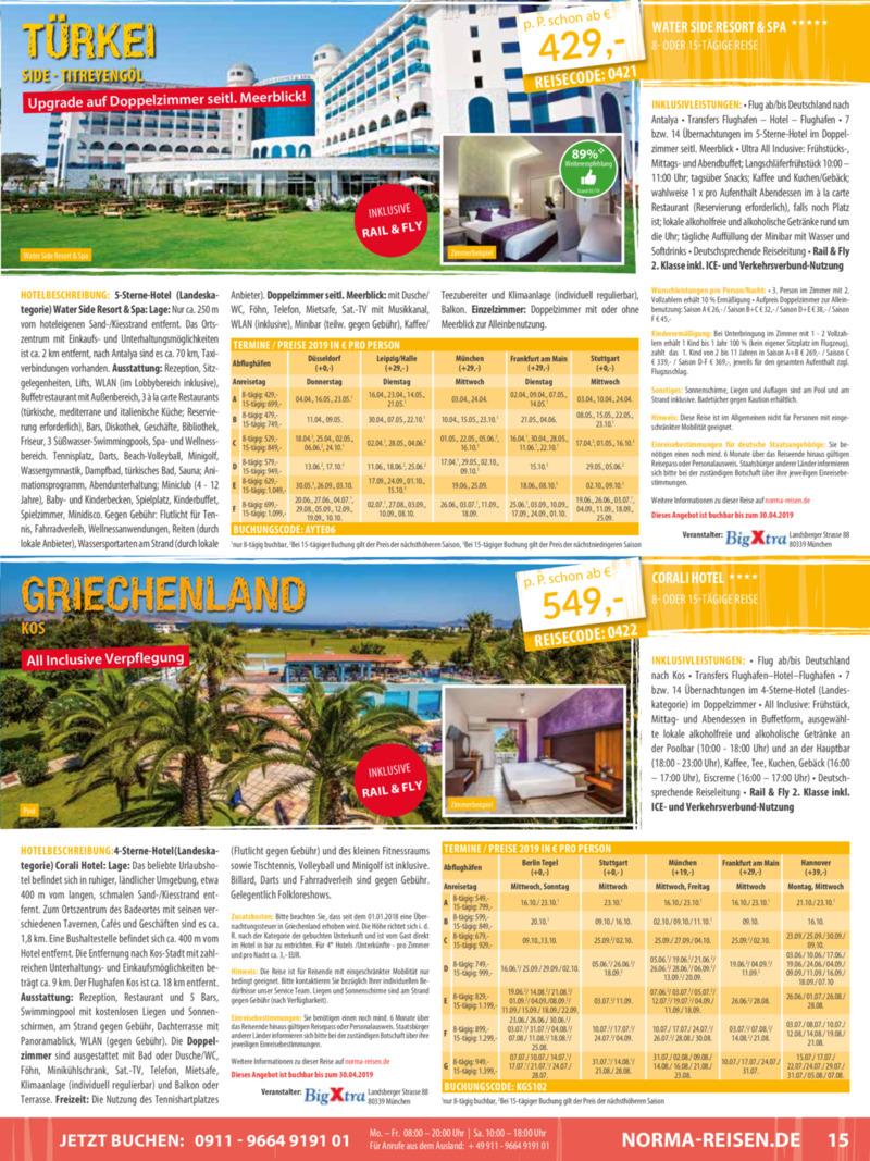 Norma-Reisen Prospekt vom 01.04.2019, Seite 14