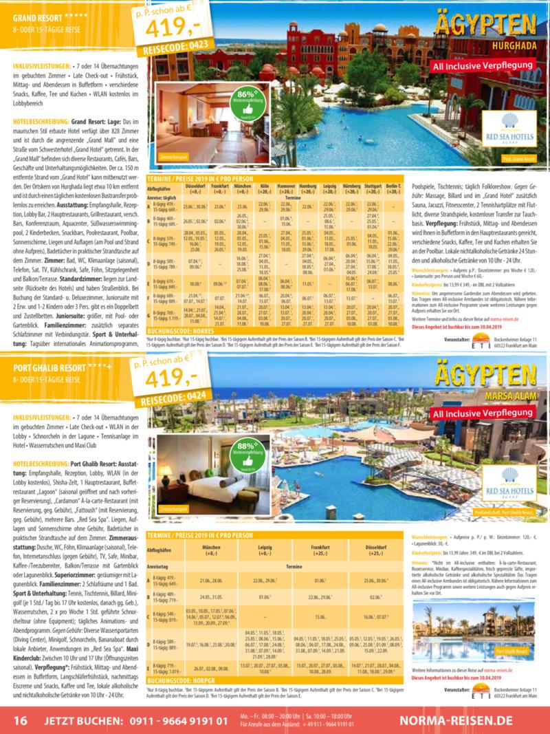 Norma-Reisen Prospekt vom 01.04.2019, Seite 15