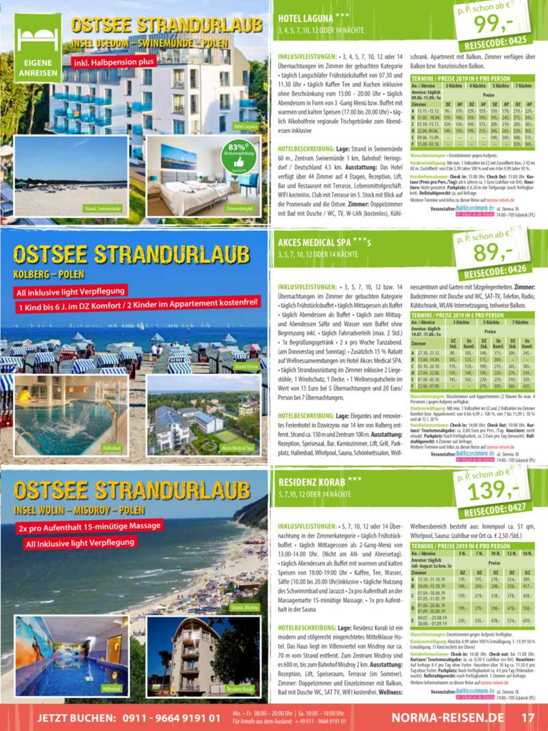 Norma-Reisen Prospekt vom 01.04.2019, Seite 16
