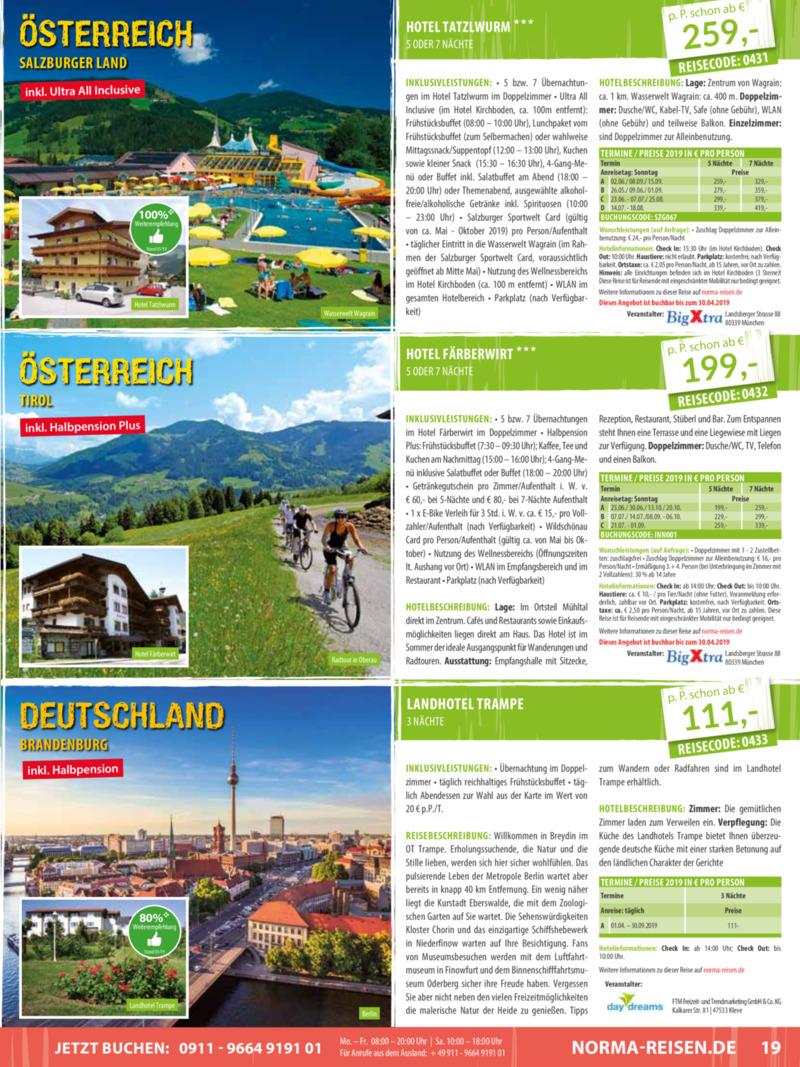 Norma-Reisen Prospekt vom 01.04.2019, Seite 18
