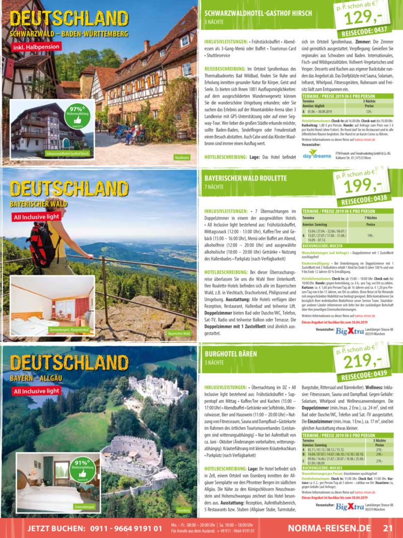 Norma-Reisen Prospekt vom 01.04.2019, Seite 20