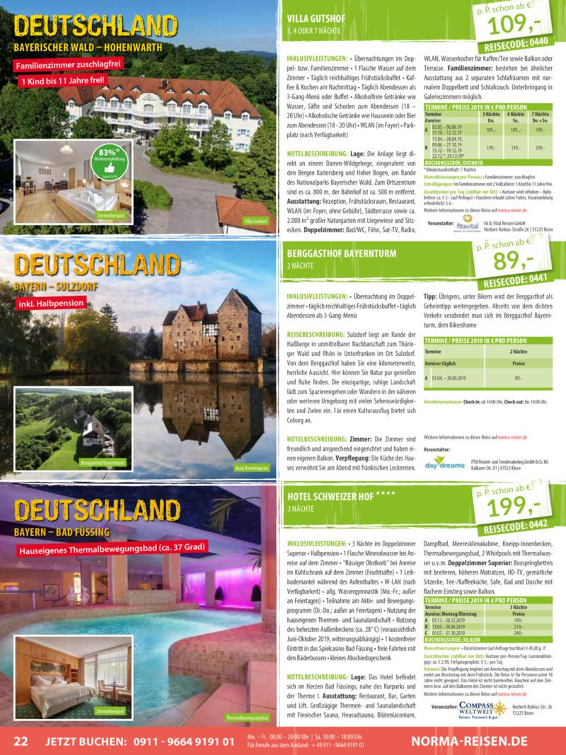 Norma-Reisen Prospekt vom 01.04.2019, Seite 21
