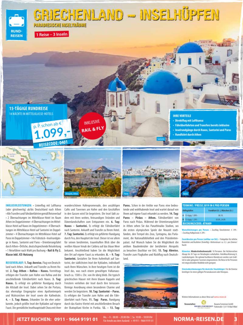 Norma-Reisen Prospekt vom 01.04.2019, Seite 2