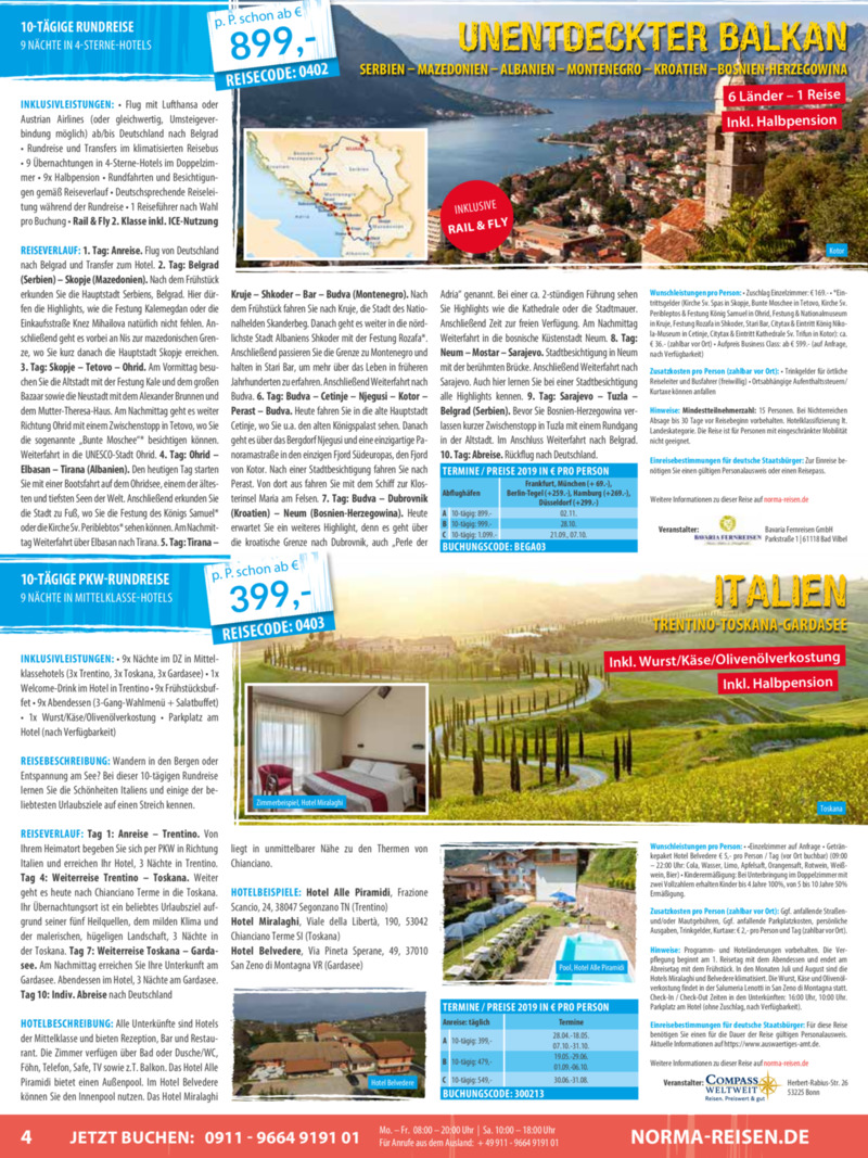 Norma-Reisen Prospekt vom 01.04.2019, Seite 3
