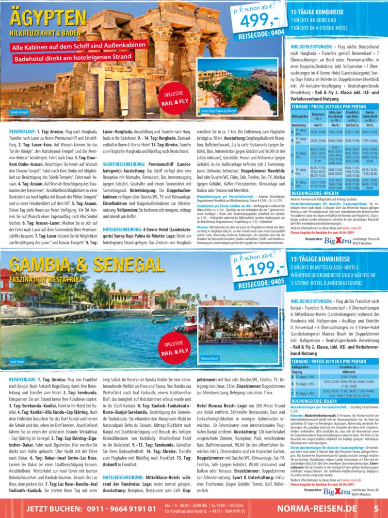 Norma-Reisen Prospekt vom 01.04.2019, Seite 4